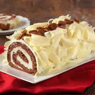 Chocolate and Vanilla Yule Log