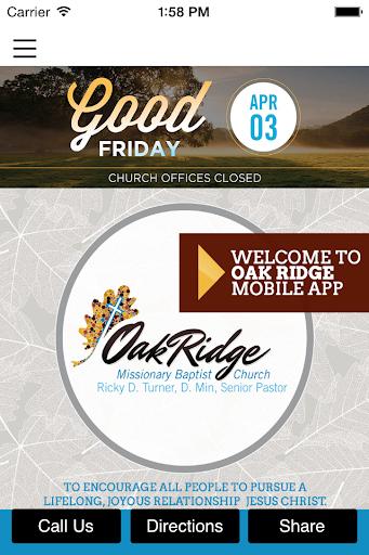 Oak Ridge Missionary Baptist