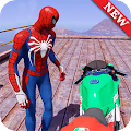 World Superheroes Bike Stunt Racing Rider 2019
