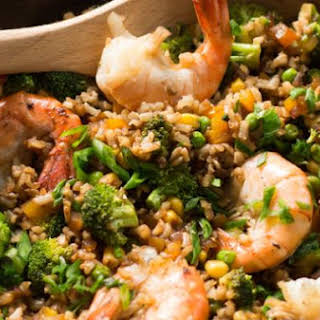 Shrimp Fried Rice with Broccoli.