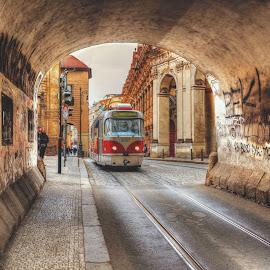 Prague Tram by Jamie Ryan - Transportation Trains ( tram prague,  )