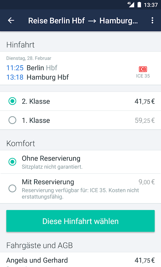 Trainline EU: Bahn App, Reisen – Screenshot