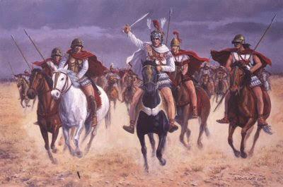 Alejandro Magno al frente de su ejército macedonio