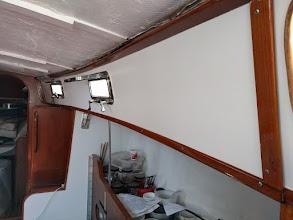 Photo: Trim re-installed along starboard salon