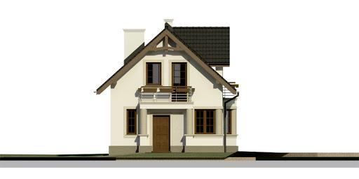 Dom przy Waniliowej - Elewacja przednia