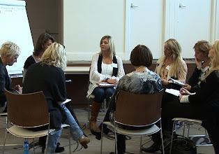 Photo: Intervisieonderwerp 'Het Nieuwe Werken' met secretaressecoach Nathalie Scholtes.