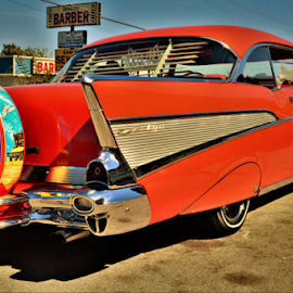 57 Red Cruzer by Benito Flores Jr - Transportation Automobiles ( chevy, low rider, texas, car show, killeen )