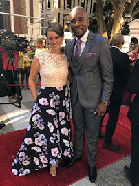 DA leader Mmusi Maimane and his wife Natalie on the red carpet ahead of the state of the nation address in Cape Town on February 16 2018.
