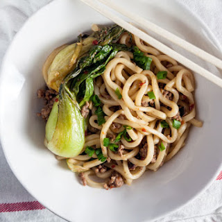 Spicy Garlic Noodles with Pork