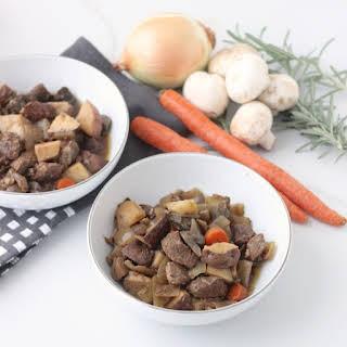 Slow Cooker Honey Balsamic Steak and Veggies.