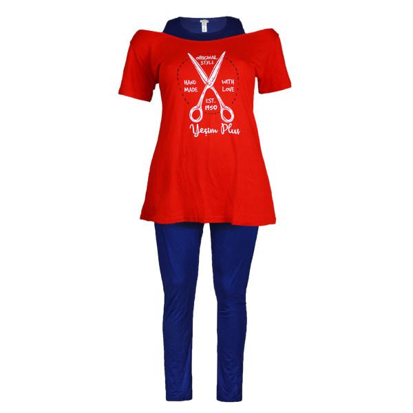 ست تی شرت و شلوار زنانه یشیم کد YS1156