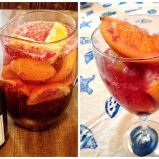 Fruity Sangria with Raspberries and Oranges