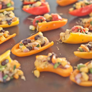 Sweet Mini Pepper Nachos