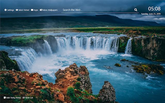 Waterfalls Wallpaper HD New Tab Theme©