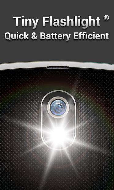 Tiny Flashlight + LED Android App Screenshot