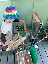 Photo: children take to weaving quickly here is a 5 yr old boy on the smaller height saori piccolo loom  https://www.etsy.com/listing/111233623/saori-piccolo-portable-loom-adjustable?ref=shop_home_feat