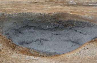 Photo: We visited another geothermal area and saw mudpots.  There are thirty active volcanos in the region.