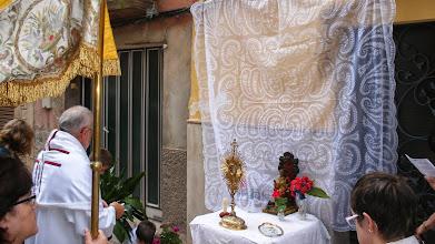 Photo: Tercer altar i final de la processó de Corpus.