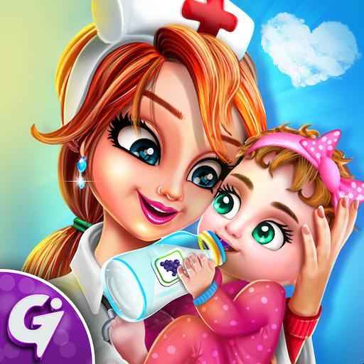 Pregnant mom & Newborn Baby Care Center game Icon