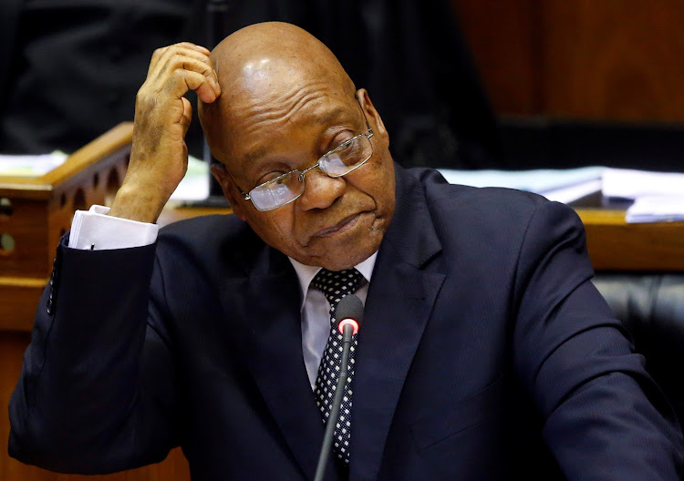 Former president Jacob Zuma in Parliament. Picture: REUTERS