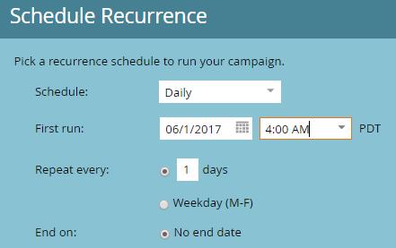 Marketo Schedule