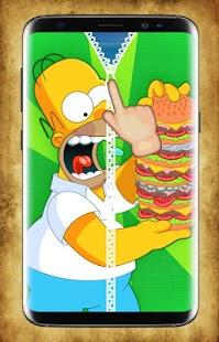 Homer Zipper Lock Screen - náhled