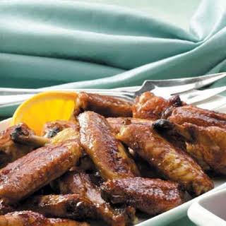 Orange-Glazed Chicken Wings.