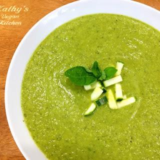 Vegan Basil Zucchini Soup Recipe
