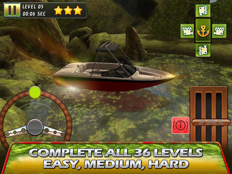 Скриншот Моторная Лодка 3D - Парковка