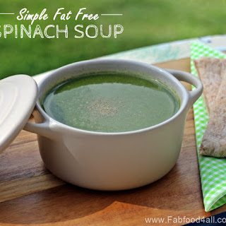 Simple Fat Free Spinach Soup.