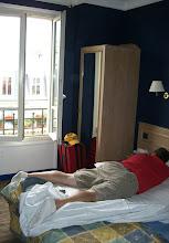 Photo: Day 1, Curt is sick in Paris