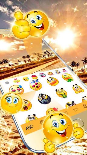 golden sunset keyboard theme screenshot 3
