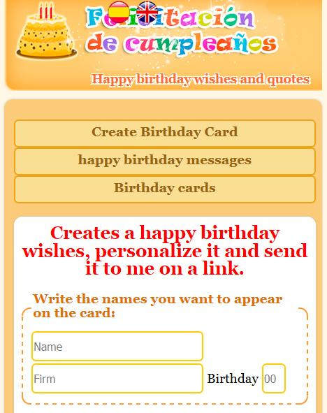 Happy birthday with name- screenshot