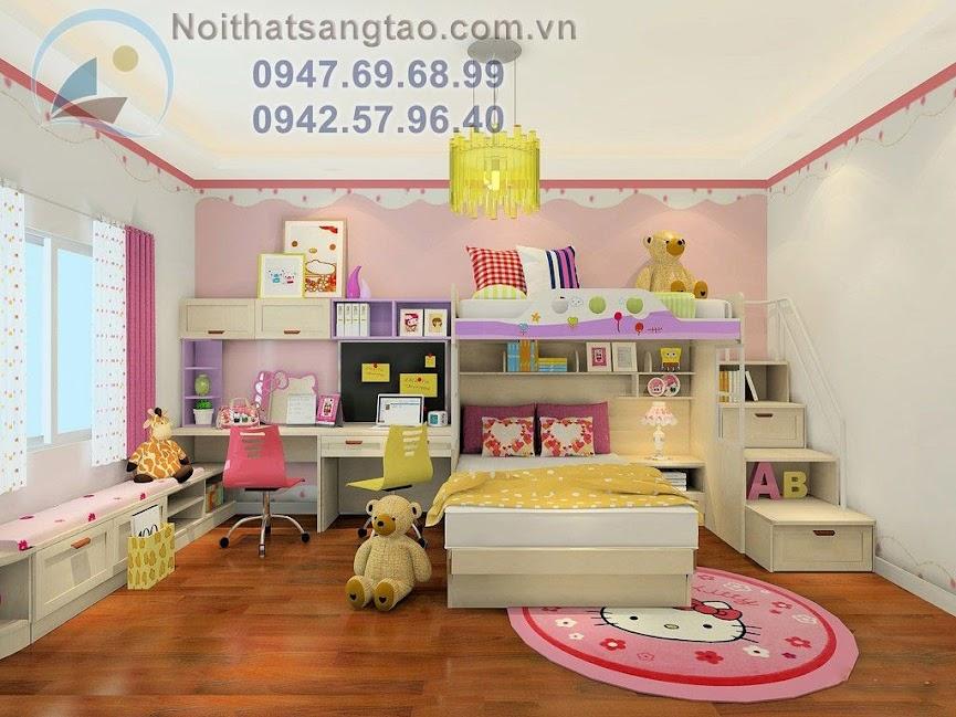 thiết kế phòng ngủ đáng yêu