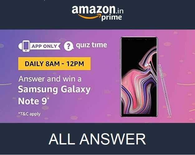 Amazon Samsung Quiz Contest