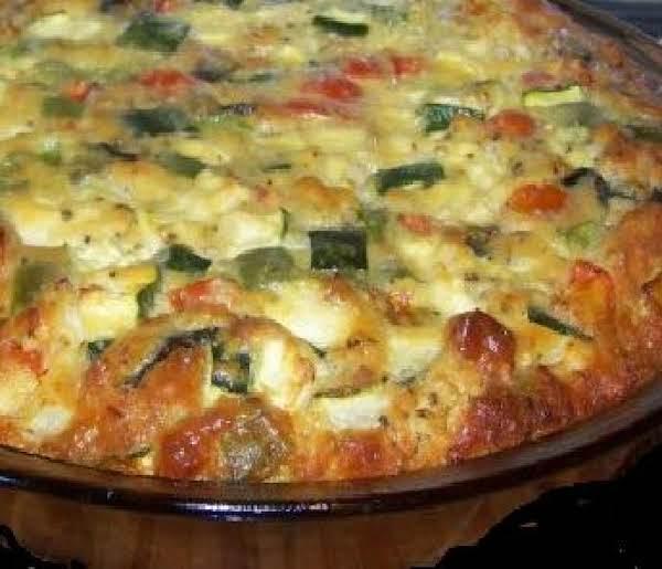 Aunt Ina's Tomato Zucchini  Pie Recipe
