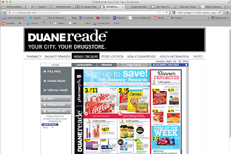 Photo: I scrutinized Duane Reade's online circular last week, to maximize savings and Rewards points before I shopped.