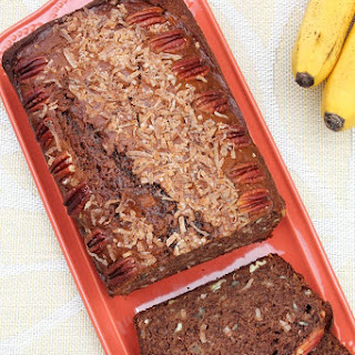 GERMAN CHOCOLATE BANANA BREAD.
