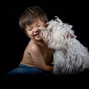 The Kiss by Anne Young - Babies & Children Child Portraits (  )