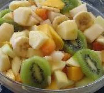 """Froutosalata"" Mixed Fruit, Orange Juice & Honey"