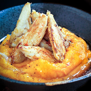 Sauteed Crab Over Acorn Squash Puree