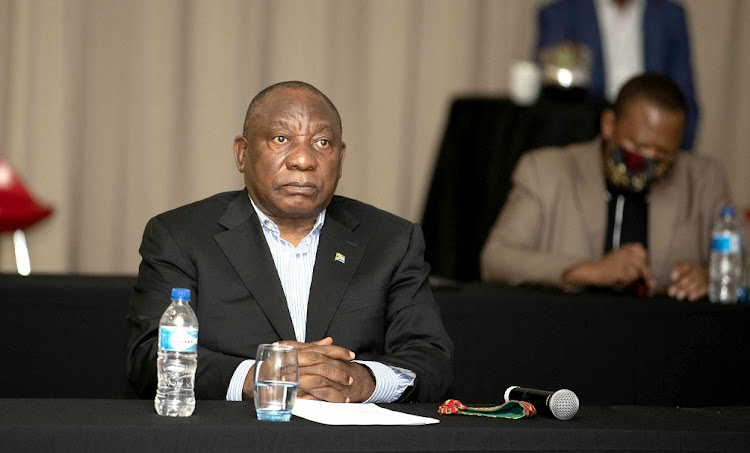 President Cyril Ramaphosa looks on during a visit to Nasrec Expo Centre in Johannesburg on April 24 2020. Ramaphosa was visiting sites identified as Covid-19 facilities in Gauteng. Picture: GCIS/KOPANO TLAPE