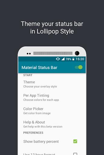 Material Status Bar Lollipop