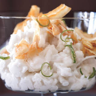 Coconut Rice Puddings with Crispy Coconut.
