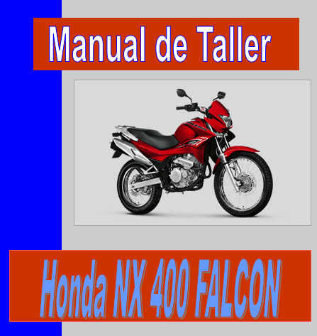Honda NX 400 Falcon-manual-taller-despiece-mecanica