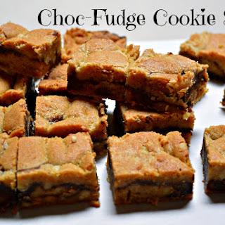 Choc Fudge Cookie Slice.