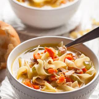 Homemade Turkey Noodle Soup.