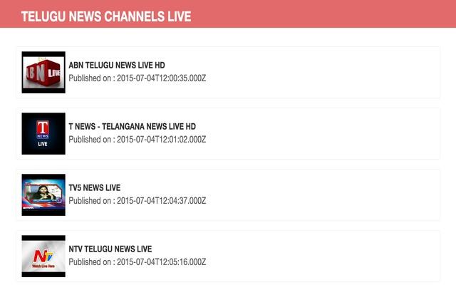 Telugu News Channels Live