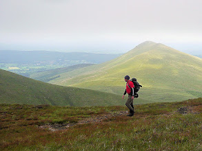 Photo: One of the leading walkers passing Cush Mountain on the Galtee Challenge