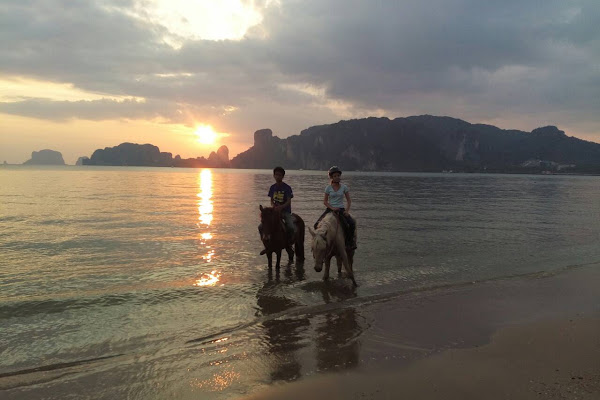 Enjoy the sunset over Railay Beach